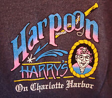 HARPOON HARRY'S Charlotte Harbor juniors small T shirt Punta Gorda Florida tee