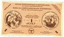 Germany Ostland Estonia - 1 Punkt, 1943/44 WWII