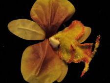 Vintage Millinery Flower Exotic Orchid Velvet Yello KQ4