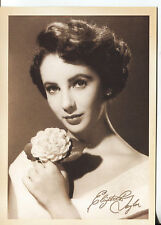 PICTURE POST CARD OF ELIZABETH TAYLOR LOOKS LIKE IT IS FROM THE 40's or 50'S