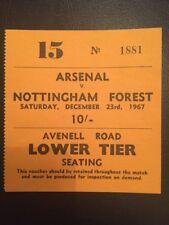 Ticket : Arsenal V Nottingham Forest 23/12/1967