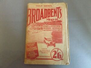 BROADBENT'S MAP OF VICTORIA 1928-29 - WELL USED - TATTY - COMPLETE AUSTRALIA