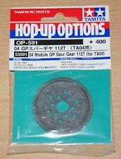 Tamiya 53591 04 Module GP Spur Gear 112T (For TA04) (TRF414/TA-04), NIP