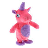 Bebé felpa caminando Unicornio Juguete Repite lo que dices Electronic Pet