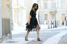 Zara Calf Length Polyester Patternless Skirts for Women