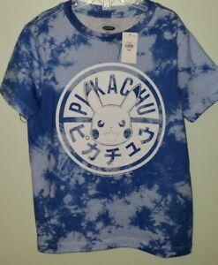 NEW Old Navy Boys SIZE 5 Tie Dye Pokemon Pikachu Tee BLUE T-Shirt #32020