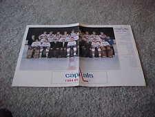 1984 Washington Capitals NHL Fold Out Hockey Team Photo