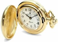 """28"""" Charles Hubert Gold-finish Quilted Design Pendant Watch Necklace"""
