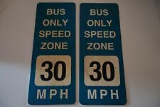 Dexter Original TV Show Props - Pair of Bus Only Speed Zone Signs