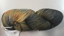 Ella Rae Lace Merino #128 Navy / Gold /Pumpkin Variegated 100g Extra Fine Merino