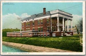 "1910s FORT MONROE, Virginia Postcard ""ARMY YMCA"" Building View Detroit Pub #9159"