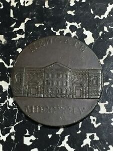 1794 Great Britain Middlesex Newgate Conder Token 1/2 Penny Lot#JM2155 Scratched