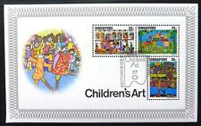 SINGAPORE 1977 Childrens Art M/Sheet MS314 (£6.50 Each) NC215
