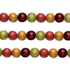 Wood Round Beads Earth Tones 8mm 16 Inch Strand