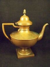 ANTIQUE NEO-CLASSICAL ENGLISH STYLE COPPER TEA KETTLE / FOOTED TEAPOT -IMPORTANT