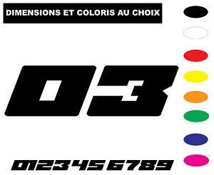 Sticker Numero Motocross moto Biker Numéro Chiffre  plaque autocollant  nombre