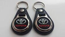 TOYOTA Keychain 2 piece BLACK/RED