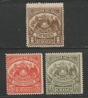 Chile TELEGRAPHS fiscal Revenue Cinderella stamps ma38 mint gum very LH