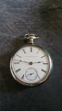 VINTAGE 18 SIZE ELGIN POCKETWATCH GRADE 73 RUNNING