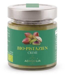 (3,50€/100g) Agrisicilia süße Pistazien-Creme  aus Sizilien - Brotaufstrich 200