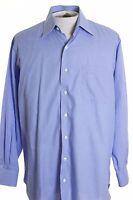 Robert Talbott Carmel Mens 16 x 34 Blue Check Button Down LS Dress Shirt USA