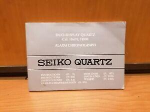 seiko quartz instructions manual unstamped