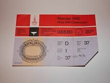 Soviet USSR Moscow Olympic Games Ticket 1980 Closing Ceremonie Place #31