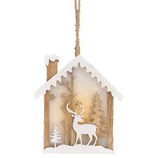 Casa De Navidad 14cm Mini Iluminado Colgante silueta Reno-Caja de luz de noche