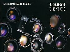 Vintage booklet 1970' - Interchangeable lenses CANON FD
