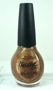 Nicole OPI Kardashian Nail Polish DISCO DOLLS NI K07 Gold Multi Glitter Lacquer