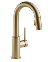 Delta 9959-CZ-DST Trinsic 1-Handle Pulldown Kitchen Faucet In Champagne Bronze