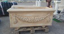 Vaso Fioriera rettangolare 100 cm cassettiera lungo cemento esterno cassetta