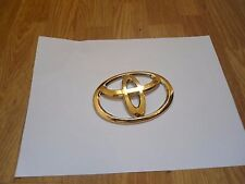 24K Gold plated Genuine TOYOTA REAR BOOT BADGE For AYGO 2005 + TOYOTA  SPORTS
