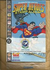 DC Celebrate the Century - Superheroes Stamp Album Batman Superman Wonder Woman