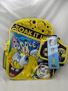 Nickelodeon Spongebob Squarepants Backpack Lunch Water Bottle Case Lot New