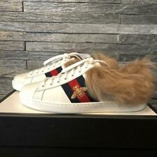 GUCCI Embroidery Gold Bee ACE Sherry Line Sneaker Shoes US8.5 White Unused w/BOX