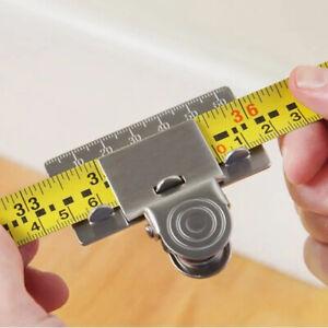 2021 Measuring Tape Clip Tape Measuring Tool Tape Measure Aid Clip Iron 1/2/4pc!
