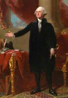 Portrait of George Washington Gilbert Stuart American Art Painting Print CANVAS