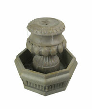 Classic Olive Column Style Tabletop or Garden Fountain With Pump