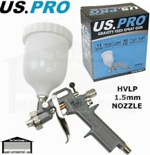 US Pro Tools HVLP Gravity Feed Spray Gun 1.5mm Nozzle 600ml Cup Air 8765