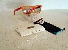 NEW Oakley Frogskins Blacklight Orange / Pink w/ Pink Iridium Lens 24-284 BNIB