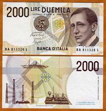 Italy, 2000, ND (1990-1994 issue), pre-Euro, P-115, AA-Prefix, UNC > Marconi