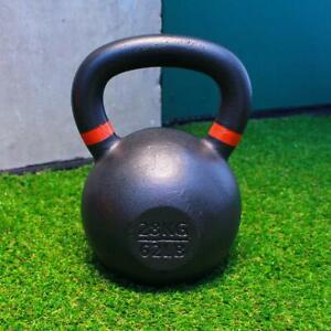 Kettlebells 28kg Cast Iron Fitness Home Gym Training Weights