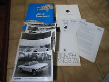 Original British Leyland 1973 Triumph UK 50th Anniversary Press Kit