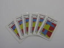 Set of 6 Laminated Blackjack Basic Strategy Cards- 2 sided