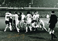 PROOF DAVID HARVEY SIGNED PHOTO ICONIC FIGHT AUTOGRAPH COA LEEDS UNITED UTD