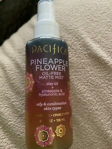 Pacifica, Pineapple Flower, Oil-Free Matte Face Mist, 4 Fl Oz Vegan New