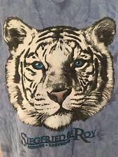 Siegfried & Roy WHITE TIGER T-Shirt LARGE Blue Tie Dye Mirage Las Vegas
