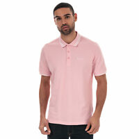 Mens Ben Sherman Twin Tipped Collar Short Sleeve Cotton Polo Shirt In Pink