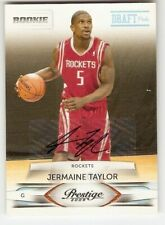 JERMAINE TAYLOR AUTOGRAPH ROOKIE 2009-10 PRESTIGE 232 SER. #/699 HOUSTON ROCKETS